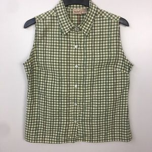 Woolrich Green Patterned Button Down Top